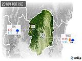 2018年10月19日の栃木県の実況天気