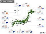 実況天気(2018年10月23日)
