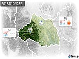 2018年10月25日の埼玉県の実況天気