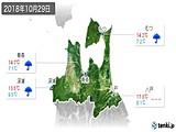 2018年10月29日の青森県の実況天気