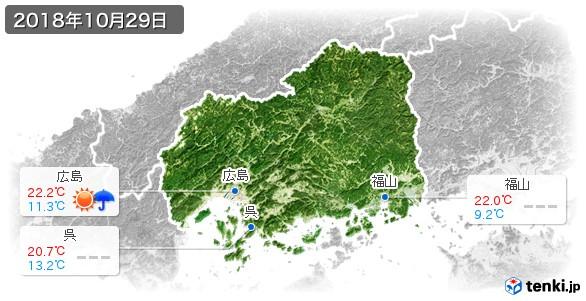 広島県(2018年10月29日の天気