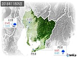 2018年11月05日の愛知県の実況天気