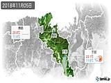 2018年11月05日の京都府の実況天気