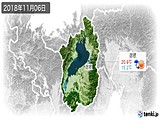 2018年11月06日の滋賀県の実況天気