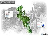 2018年11月12日の京都府の実況天気