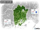 2018年11月12日の岡山県の実況天気