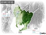 2018年11月13日の愛知県の実況天気