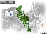 2018年11月14日の京都府の実況天気