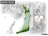 2018年11月15日の大阪府の実況天気