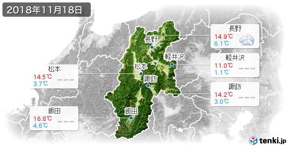 長野県(2018年11月18日の天気