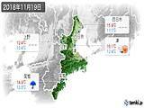 2018年11月19日の三重県の実況天気