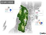 2018年11月20日の山形県の実況天気