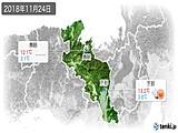 2018年11月24日の京都府の実況天気