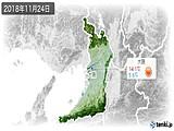 2018年11月24日の大阪府の実況天気