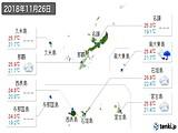 2018年11月26日の沖縄県の実況天気