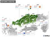 2018年11月27日の中国地方の実況天気