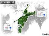 2018年11月28日の愛媛県の実況天気