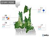 2018年11月28日の青森県の実況天気