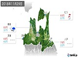 2018年11月29日の青森県の実況天気