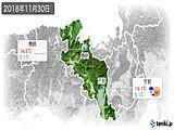 2018年11月30日の京都府の実況天気