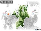 2018年12月01日の福岡県の実況天気