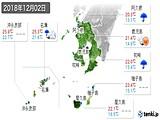 2018年12月02日の鹿児島県の実況天気