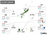 2018年12月02日の沖縄県の実況天気