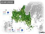 2018年12月03日の山口県の実況天気