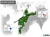 2018年12月03日の愛媛県の実況天気