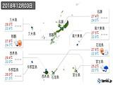 2018年12月03日の沖縄県の実況天気