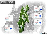 2018年12月04日の長野県の実況天気