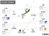 2018年12月06日の沖縄県の実況天気