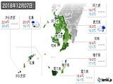 2018年12月07日の鹿児島県の実況天気