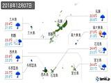 2018年12月07日の沖縄県の実況天気