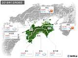 2018年12月08日の四国地方の実況天気