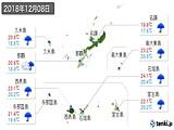 2018年12月08日の沖縄県の実況天気