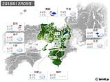 2018年12月09日の近畿地方の実況天気