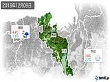 2018年12月09日の京都府の実況天気
