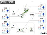 2018年12月09日の沖縄県の実況天気