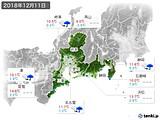 2018年12月11日の東海地方の実況天気