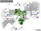 2018年12月11日の近畿地方の実況天気