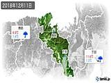 2018年12月11日の京都府の実況天気