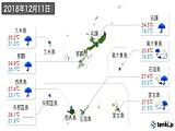 2018年12月11日の沖縄県の実況天気
