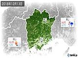 2018年12月13日の岡山県の実況天気