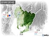 2018年12月14日の愛知県の実況天気
