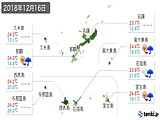 2018年12月16日の沖縄県の実況天気