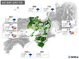 2018年12月17日の近畿地方の実況天気