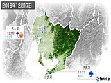2018年12月17日の愛知県の実況天気