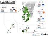 2018年12月17日の鹿児島県の実況天気