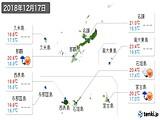2018年12月17日の沖縄県の実況天気